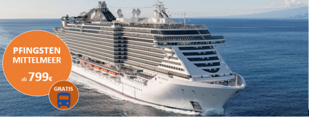 Mittelmeer Pfingsten MSC Seaside